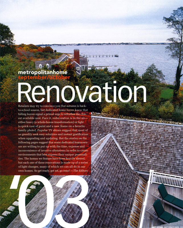 Renovation '03 by Fred A. Bernstein – Metropolitan Home, September/October 2003